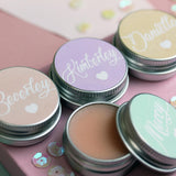 Personalised Pastel Coloured Prosecco Lip Balms for Party favours.