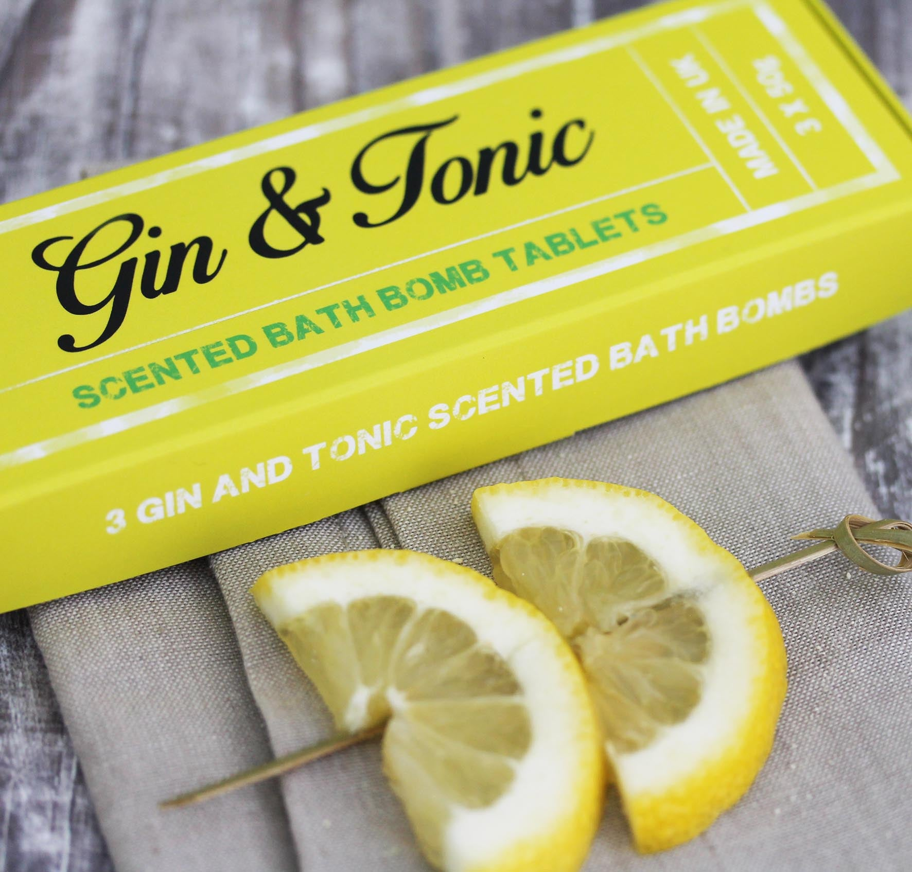 Gin & Tonic Scented Bath Bomb Tablets