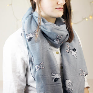 French Bulldog Print Scarf