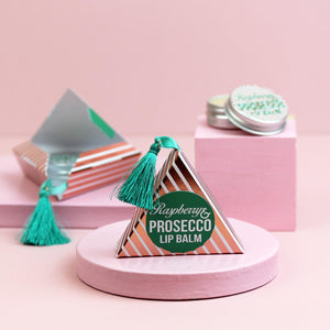 Prosecco Lip Balm in Gold Tasselled Gift Box