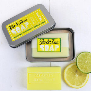 Gin & Tonic Natural Soap in Travel Tin