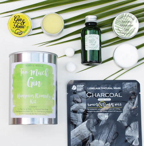 Too Much Gin Hangover Pamper Kit in a Ringpull Tin (w)