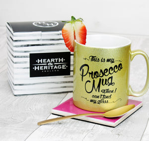 Prosecco Mug with Gold Inside