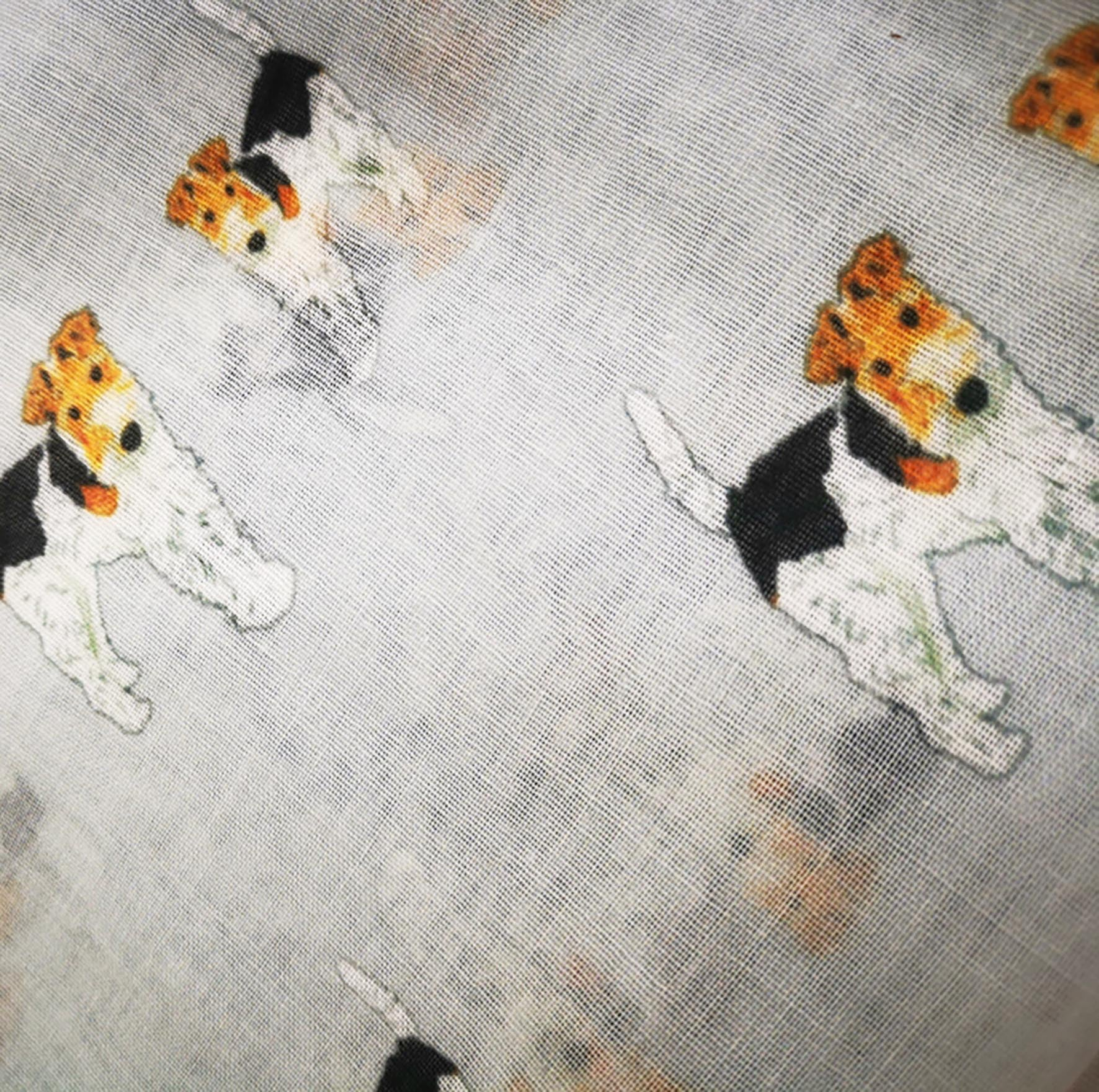 Fox Terrier Print Scarf for Dog Lovers