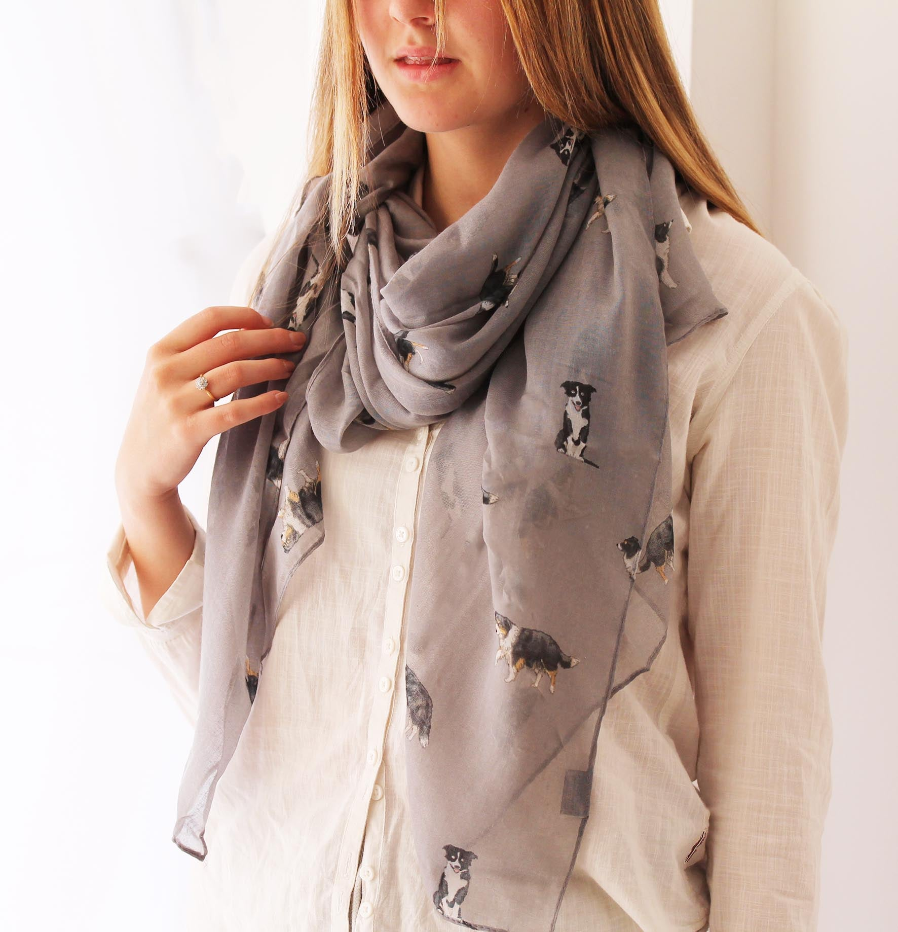Sheepdog or Border Collie Print Scarf for Dog Lovers