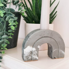 Marble or Stone Arch Shaped Candle Holder