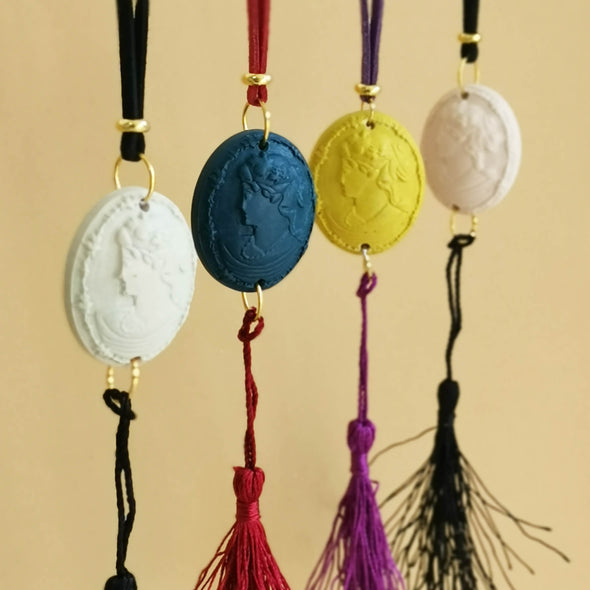 Cameo Hanging Decoration with Tassel