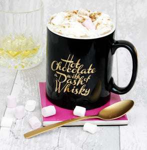 Black and Gold Hot Chocolate Mug