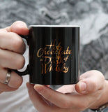Black and Gold Hot Chocolate Mug (w)
