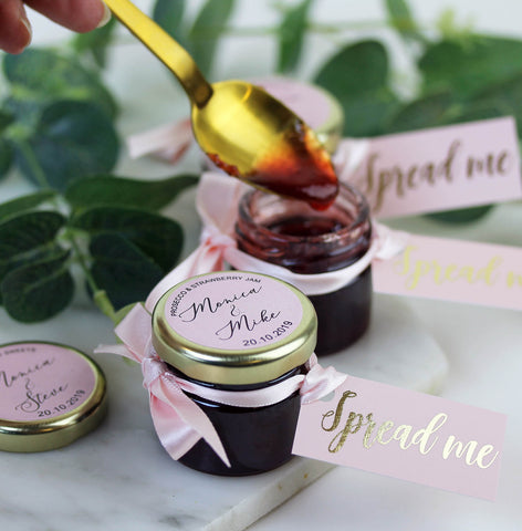 Prosecco & Strawberry Jam Wedding Favours