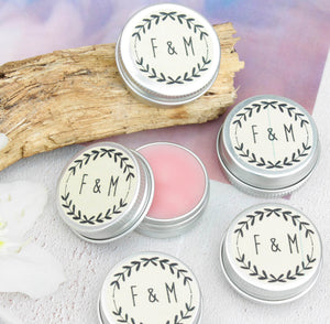 Personalised Wedding Favour Prosecco Lip Balms