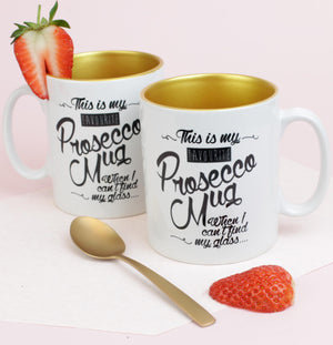 Prosecco Mug with Gold Inside (w)