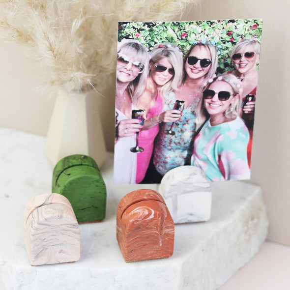 Marble Design Jesmonite Photo Holder