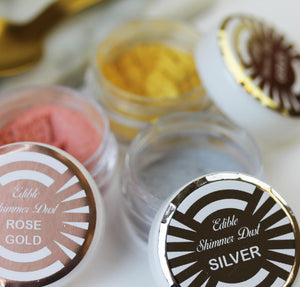 Edible Cocktail Shimmer Dust in 3 Colours