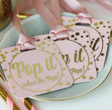 Baby Shower Decorated Gold Prosecco Bottle