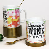 Wine Pixel Pattern Ceramic Mug