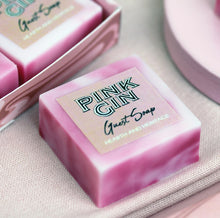 Marbled Pink Gin Scented Guest Soaps in a Gift Box.