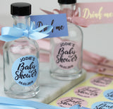 Drink Me labels for Baby Shower Mini Gin Party Favours