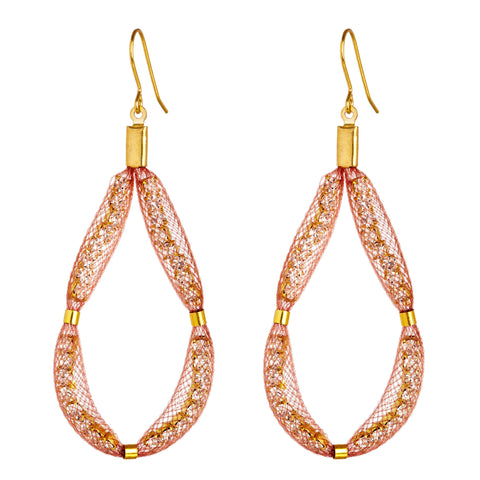 The rose gold Large Teardrop is designed as a loop of sparkling Czech crystals