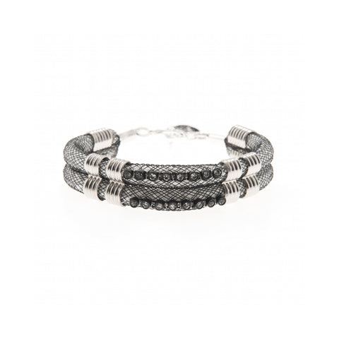 Karelian Two Piece cuff with crystal trim