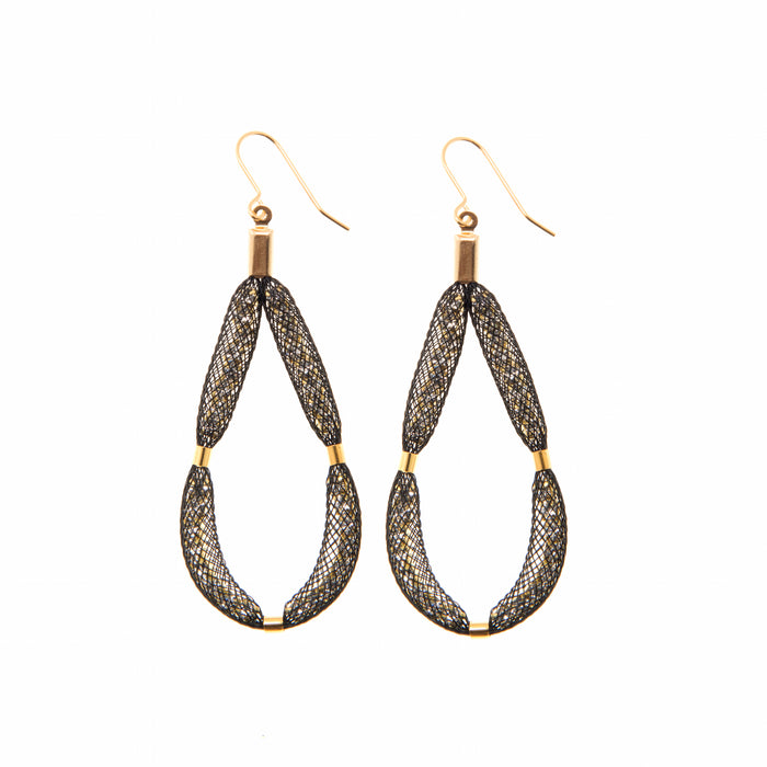 The Large-Teardrop gold earrings are a luxury, eye-catching pieces for that very special occasion.