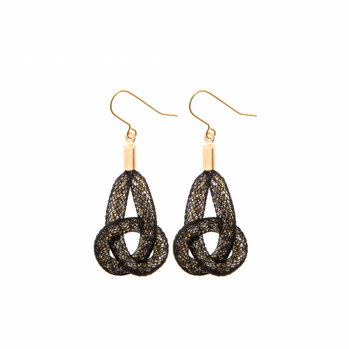 large Knot earrings from the Bláithín Ennis Topaz collection