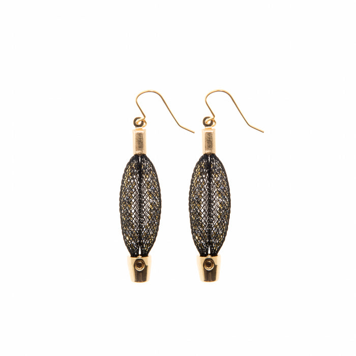 mid length leaf earrings