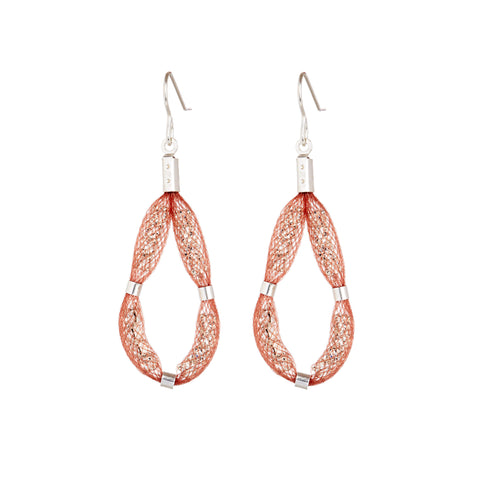 The Medium Teardrop earring design consists of a loop of sparkling Czech crystals set on a sterling silver hook.