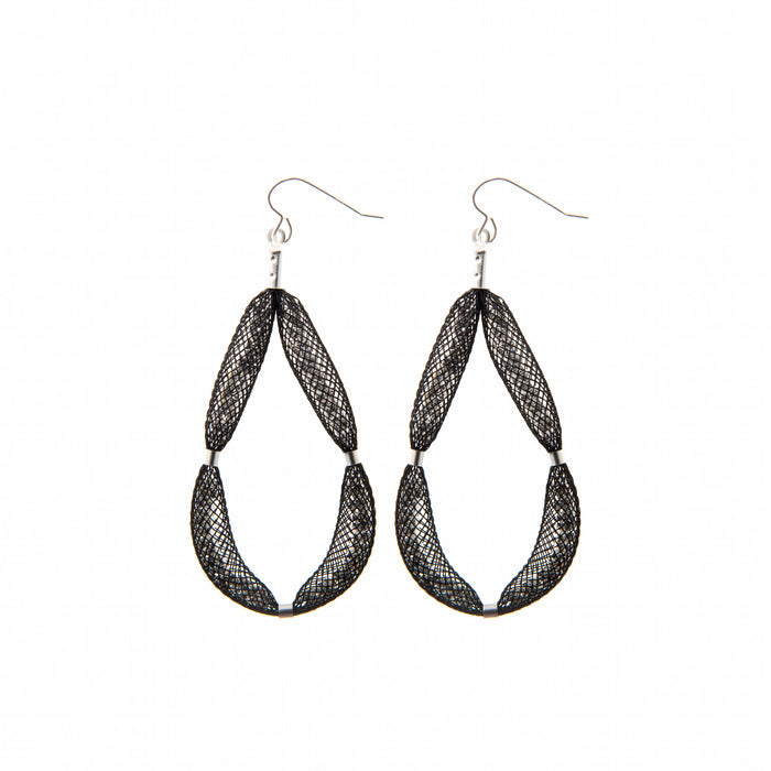 The Large-Teardrop earrings are a luxury, eye-catching piece for that very special occasion.