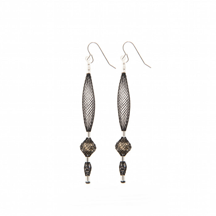 long large droplet earrings