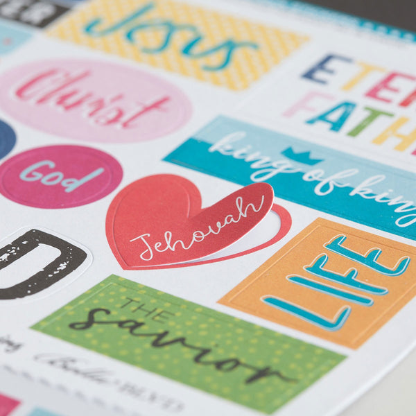 Illustrated Faith - His name cardstock stickers