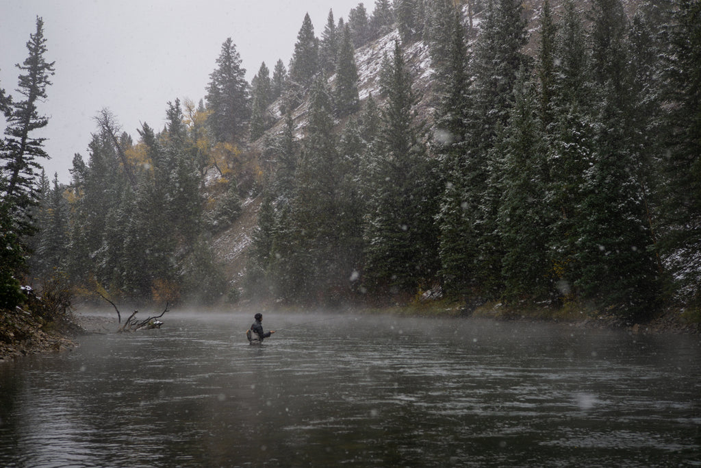 Snowy Canyon Fly Fishing Fall Winter