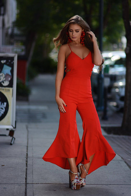Ring My Bell Red Jumper - The Flawless Babe Boutique