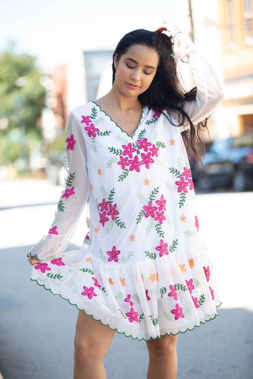 Western Floral Dress - The Flawless Babe Boutique