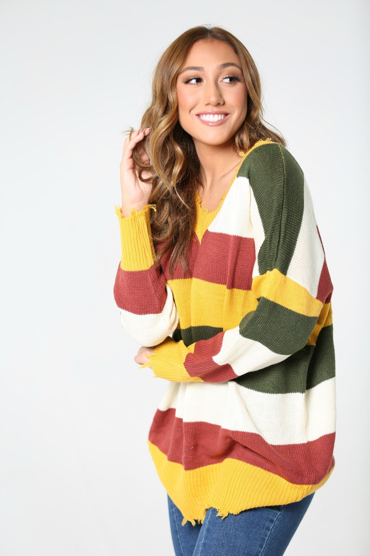 Bonfire Nights Striped Sweater - The Flawless Babe Boutique