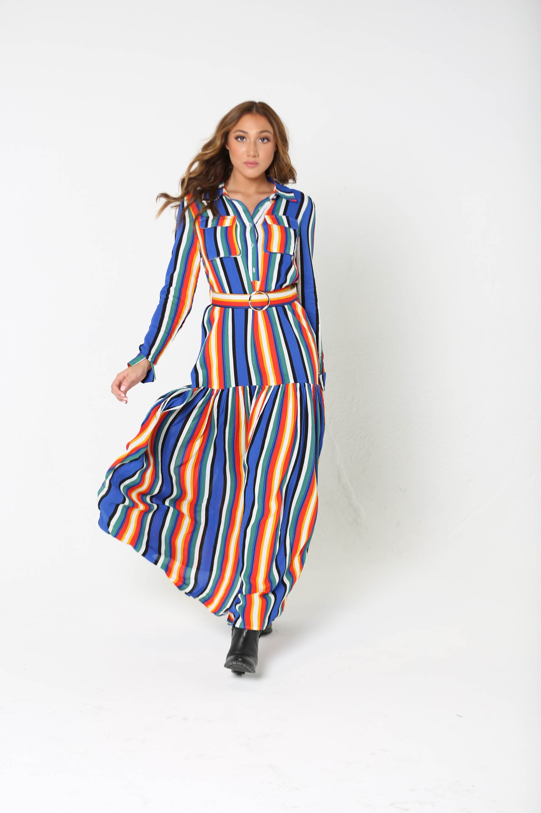Feeling Witchy Belted Maxi Dress - The Flawless Babe Boutique
