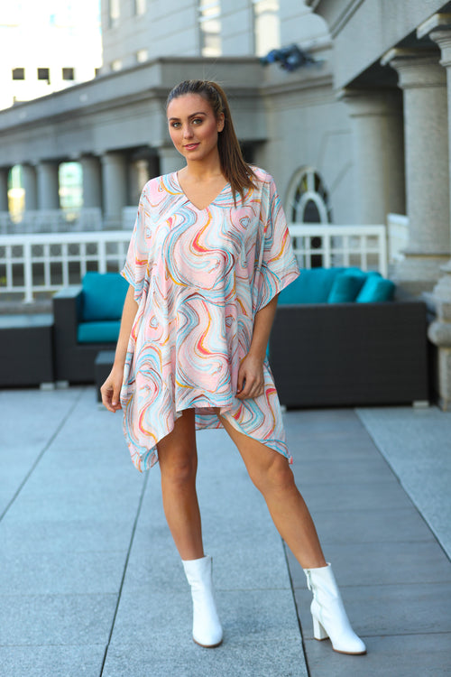 Psychadelic Pina Colada Dress/Cover Up- Buddy Love