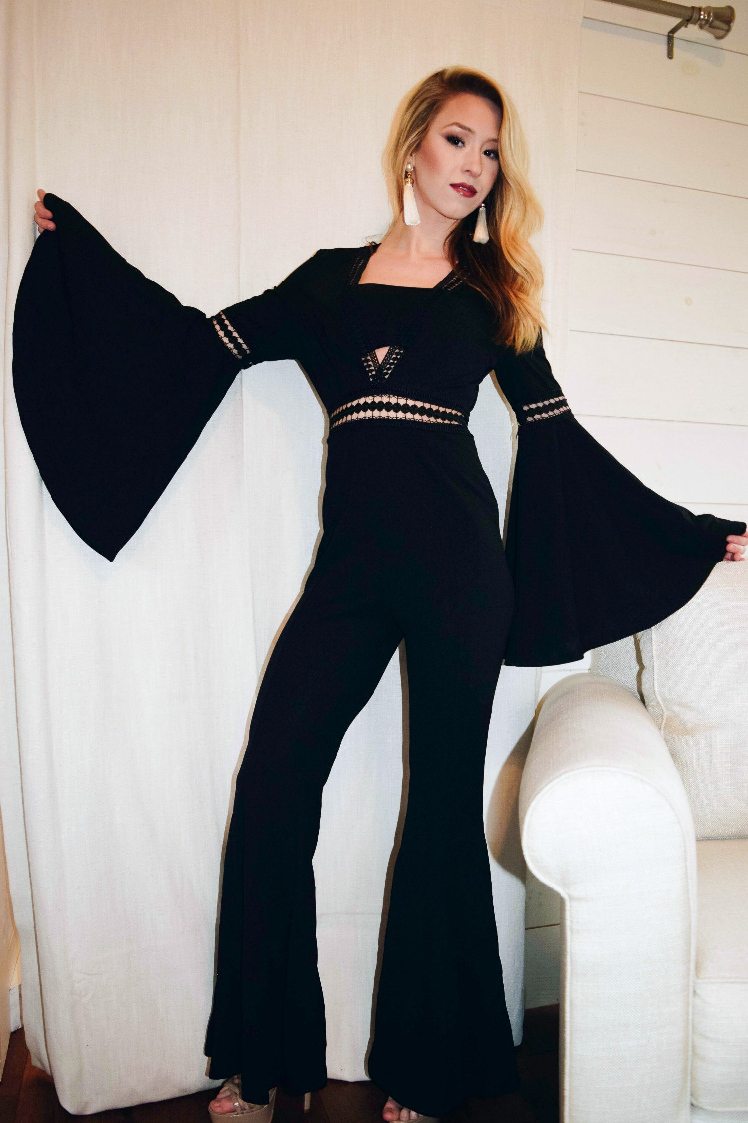 Meet Me At the Disco Flared Jumper - The Flawless Babe Boutique