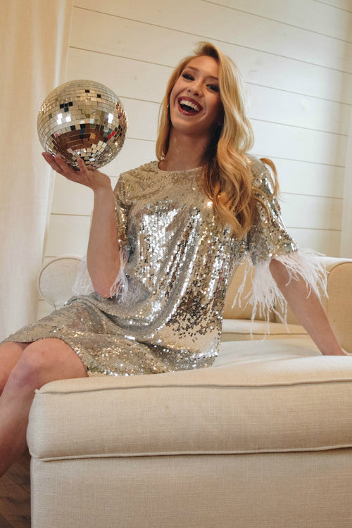 Dancing Queen Silver Fringe and Sequin Dress - The Flawless Babe Boutique