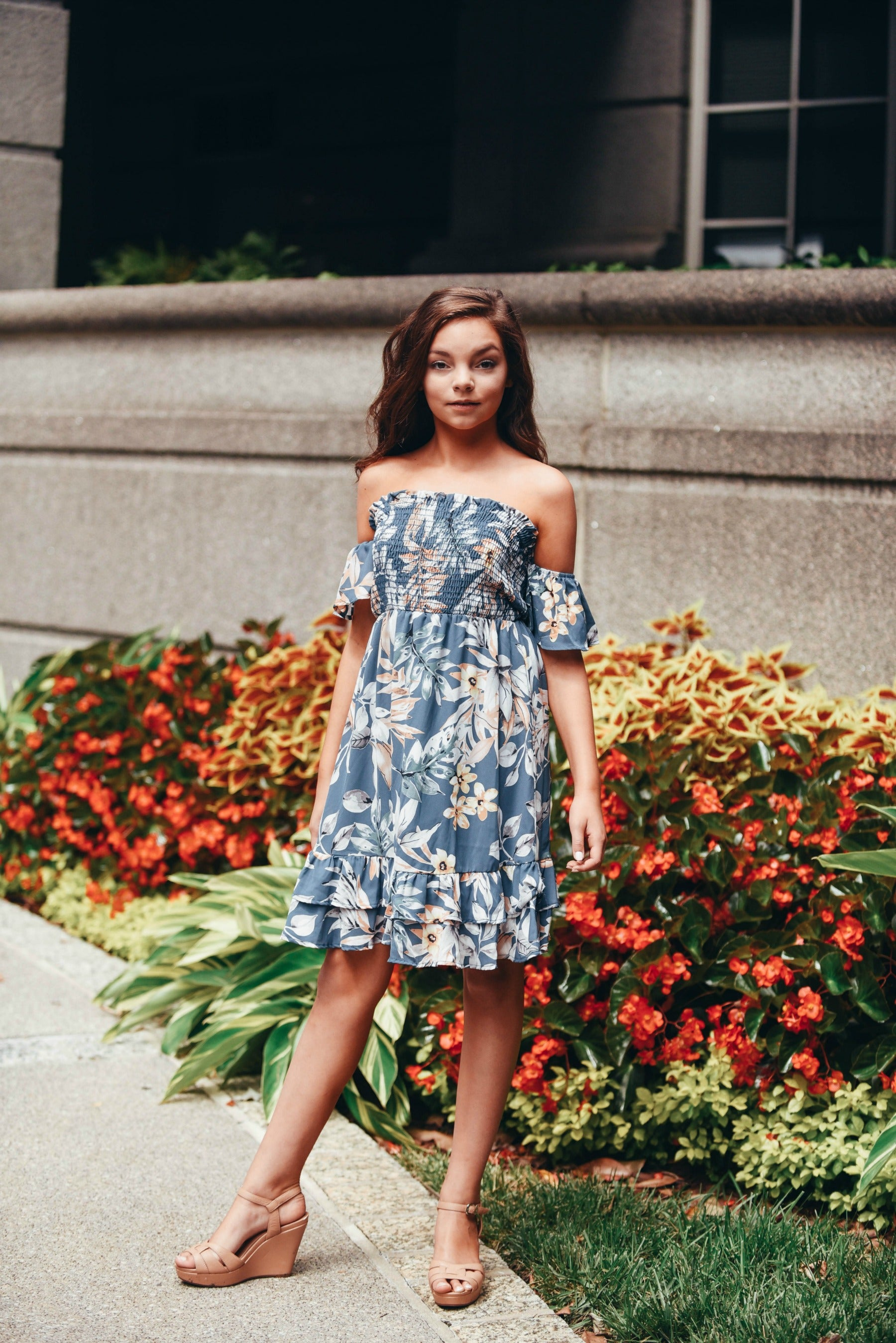 Against The Wind Floral Dress - The Flawless Babe Boutique