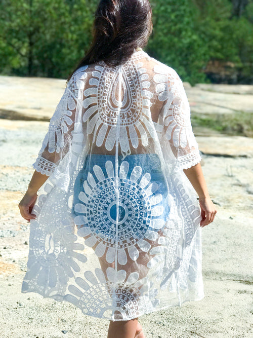 Flower Child Lace Kimono - The Flawless Babe Boutique