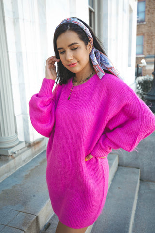 Pumpkin Dreams Knit Bell Sleeve Sweater