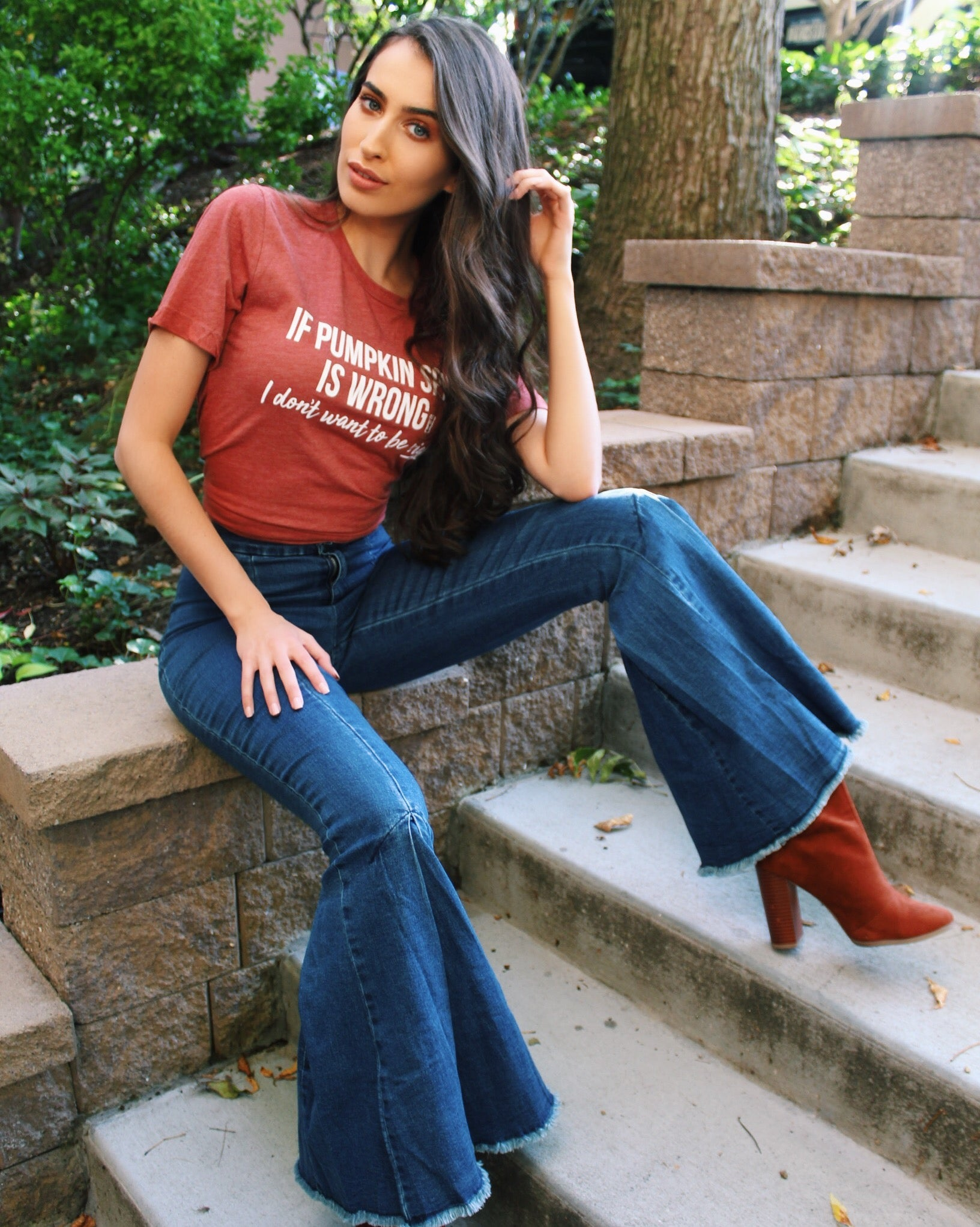 Pumpkin Spice Dreams Graphic Tee - The Flawless Babe Boutique