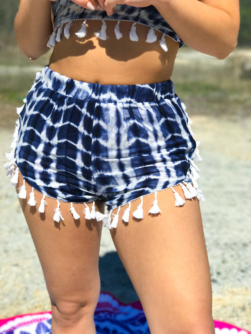 Get Groovy Tie Dye Fringe Lined Bottoms - The Flawless Babe Boutique