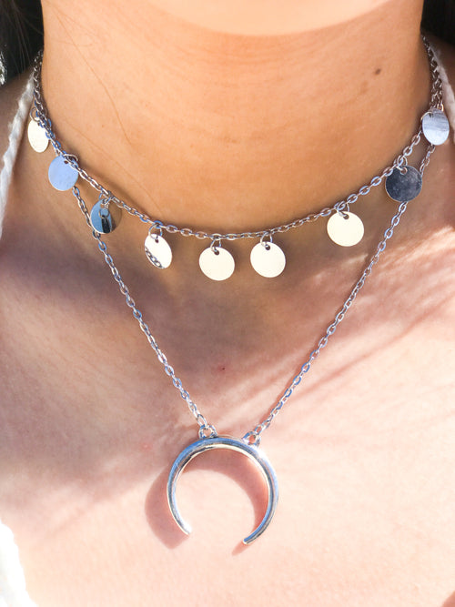 Moon River Double Chain Choker