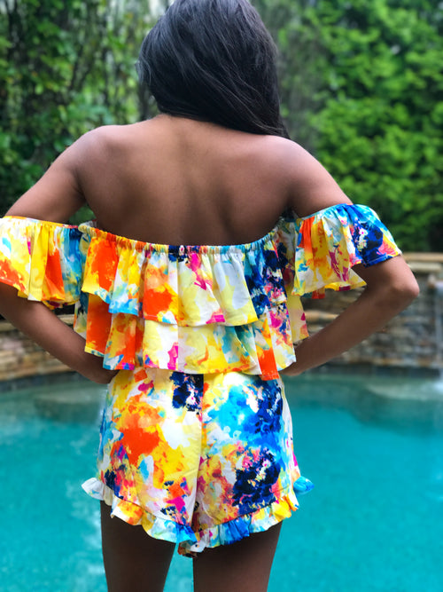 Watercolor Waterfall Bottoms - The Flawless Babe Boutique