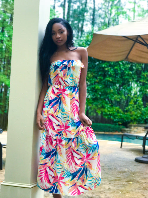 Hawaiian Goddess Maxi Dress - The Flawless Babe Boutique
