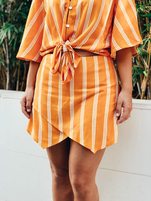 Orange Peel Skort - The Flawless Babe Boutique