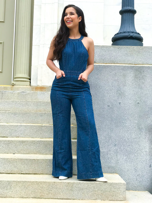 Fawcett Denim Jumpsuit - The Flawless Babe Boutique