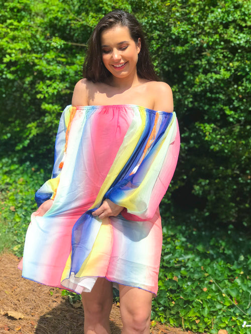 Rainbow Royalty Dress - The Flawless Babe Boutique